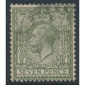 GREAT BRITAIN - 1917 7d sage-green KGV, Simple Cypher watermark, used – SG # 389