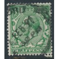 GREAT BRITAIN - 1913 ½d bright green KGV, perf. 15:14, Multiple Cypher watermark, used – SG # 397