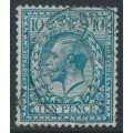 GREAT BRITAIN - 1924 10d turquoise-blue KGV, Block Cypher watermark, used – SG # 428