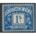 GREAT BRITAIN - 1937 1/- deep blue Postage Due, GVIR watermark, MH – SG # D33