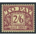 GREAT BRITAIN - 1957 2/6 purple on yellow Postage Due, crown E2R watermark, MH – SG # D54