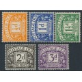 GREAT BRITAIN - 1956 ½d to 3d Postage Dues, crown E2R watermark, MH – SG # D46-D50