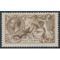 GREAT BRITAIN - 1918 2/6 pale brown Sea Horses, Bradbury, Wilkinson printing, MH – SG # 415a