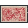 GREAT BRITAIN - 1919 5/- rose-red Sea Horses (Bradbury, Wilkinson printing), MH – SG # 416