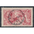 GREAT BRITAIN - 1919 5/- rose-red Sea Horses (Bradbury, Wilkinson printing), used – SG # 416