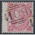GREAT BRITAIN - 1862 3d carmine-rose QV, Emblems watermark, B01 cancel (= Alexandria) – SG # 76 / Z10