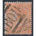 GREAT BRITAIN - 1865 4d vermilion QV, Garter watermark, B01 cancel (= Alexandria) – SG # 94 / Z17