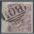 GREAT BRITAIN - 1865 6d lilac QV, Emblems watermark, B01 cancel (= Alexandria) – SG # 97 / Z22