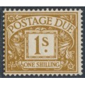 GREAT BRITAIN - 1955 1/- ochre Postage Due, crown E2R watermark, MH – SG # D53