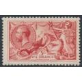 GREAT BRITAIN - 1919 5/- rose-red Sea Horses (Bradbury, Wilkinson printing), MH – SG # 416