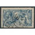 GREAT BRITAIN - 1919 10/- dull grey-blue Sea Horses (Bradbury, Wilkinson printing), MH – SG # 417