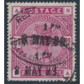 GREAT BRITAIN - 1883 5/- crimson Queen Victoria, anchor watermark, used – SG # 181