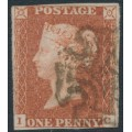 GREAT BRITAIN - 1843 1d red-brown QV, plate 31, check letters IC, used – SG # 8l