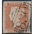 GREAT BRITAIN - 1851 1d red-brown QV, plate 113, check letters SD, used – SG # 8