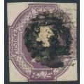 GREAT BRITAIN - 1854 6d mauve embossed QV, reversed VR watermark, used – SG # 58