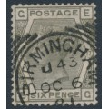 GREAT BRITAIN - 1881 6d grey QV, Large Crown watermark, plate 17, used – SG # 161