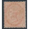 GREAT BRITAIN - 1881 1/- orange-brown QV, Large Crown watermark, plate 13, used – SG # 163