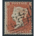 GREAT BRITAIN - 1854 1d red-brown QV, plate 172, check letters FK, used – SG # 17 (C1)