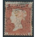 GREAT BRITAIN - 1854 1d red-brown QV, plate 180, check letters LH, used – SG # 17 (C1)