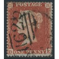 GREAT BRITAIN - 1854 1d red-brown QV, plate 194, check letters DE, used – SG # 17