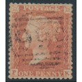 GREAT BRITAIN - 1855 1d red-brown QV, plate 11, check letters PK, watermark inverted, used – SG # 24Wi