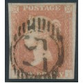 GREAT BRITAIN - 1851 1d pale red-brown QV, plate 116, check letters FI, used – SG # 8