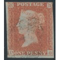 GREAT BRITAIN - 1851 1d red-brown QV, plate 119, check letters DG, used – SG # 8