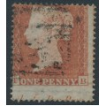 GREAT BRITAIN - 1854 1d red-brown QV, plate 174, check letters TB, used – SG # 17 (C1)