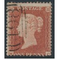 GREAT BRITAIN - 1854 1d red-brown QV, plate R2, check letters MC, used – SG # 22 (C2)