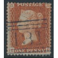 GREAT BRITAIN - 1856 1d red-brown QV, plate 34, check letters TF, used – SG # 29 (C8)