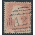 GREAT BRITAIN - 1863 1d pale rose-red QV, plate 39, AI, inverted watermark, used – SG # 39Wi (C10)