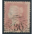 GREAT BRITAIN - 1856 1d pale rose QV, plate 44, GB, inverted watermark, used – SG # 38Wi (C9Ah)