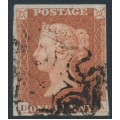 GREAT BRITAIN - 1841 1d red-brown QV, plate 13, check letters DA, used – SG # 8l (BS2c)