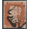 GREAT BRITAIN - 1841 1d red-brown QV, plate 16, check letters ME, used – SG # 8l