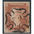 GREAT BRITAIN - 1841 1d red-brown QV, plate 19, check letters KA, used – SG # 8l