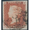 GREAT BRITAIN - 1848 1d red-brown QV, plate 78, check letters DA, used – SG # 8