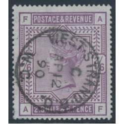 GREAT BRITAIN - 1884 2/6 deep lilac QV on blued paper, anchor watermark, used – SG # 179a