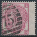 GREAT BRITAIN - 1867 3d rose QV, Spray of Rose watermark, plate 6, used – SG # 103