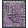 GREAT BRITAIN - 1869 6d mauve QV, Spray of Rose watermark, plate 8, used – SG # 109