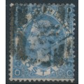 GREAT BRITAIN - 1867 2/- dull blue QV, Spray of Rose watermark, plate 1, used – SG # 118