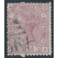 GREAT BRITAIN - 1875 2½d rosy mauve QV, Anchor watermark, plate 1, used – SG # 139