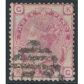 GREAT BRITAIN - 1874 3d rose QV, Spray of Rose watermark, plate 15, used – SG # 143