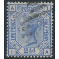 GREAT BRITAIN - 1881 2½d blue QV, Imperial Crown watermark, plate 23, used – SG # 157