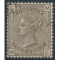 GREAT BRITAIN - 1882 4d grey-brown QV, Imperial Crown watermark, plate 18, used – SG # 160