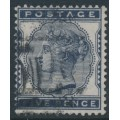 GREAT BRITAIN - 1881 5d indigo QV, imperial crown watermark, used – SG # 169