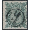 GREAT BRITAIN - 1878 10/- greenish grey QV, Maltese Cross watermark, used – SG # 128
