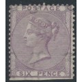 GREAT BRITAIN - 1856 6d pale lilac QV, no corner letters, emblems watermark, MNG – SG # 69