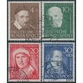 WEST GERMANY - 1951 Helfer der Menschheit Welfare set of 4, used – Michel # 143-146