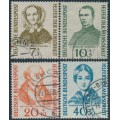 WEST GERMANY - 1955 Helfer der Menschheit Welfare set of 4, used – Michel # 222-225