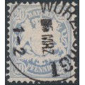 BAVARIA / BAYERN - 1876 20pf grey-blue Coat of Arms, perf. 11½, horizontal wavy lines watermark, used – Michel # 40a